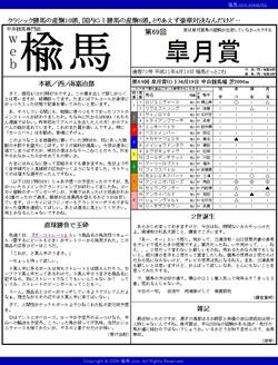 web楡馬 通巻70号 皐月賞号
