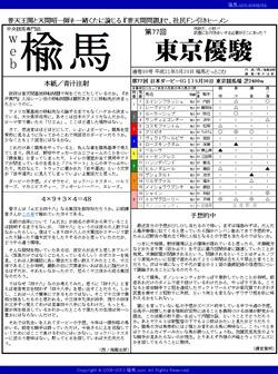 web楡馬 通巻98号 東京優駿号