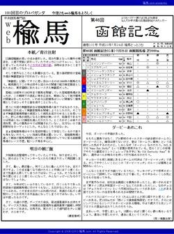 web楡馬 通巻101号 函館記念号