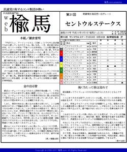 web楡馬 通巻268号 セントウルステークス号