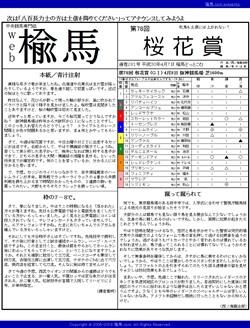 web楡馬 通巻281号 桜花賞号