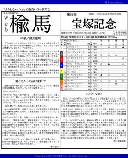 web楡馬 通巻289号 宝塚記念号