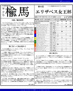 web楡馬 通巻298号 エリザベス女王杯号