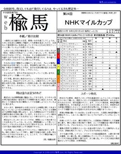 web楡馬 通巻308号 NHKマイルカップ号