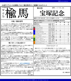 web楡馬 通巻313号 宝塚記念号