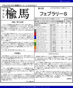 web楡馬 通巻326号 フェブラリーステークス号