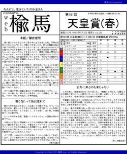 web楡馬 通巻331号 天皇賞(春)号