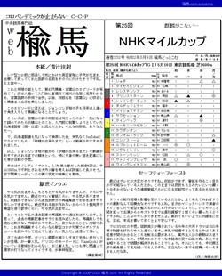 web楡馬 通巻332号 NHKマイルカップ号
