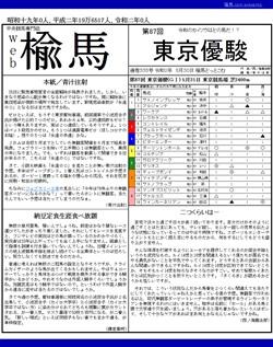web楡馬 通巻335号 東京優駿号