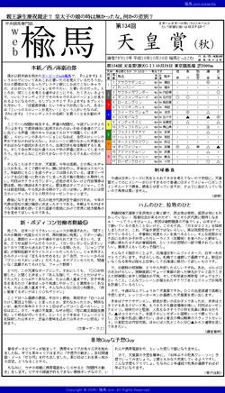 web楡馬_通巻13号_天皇賞(秋)