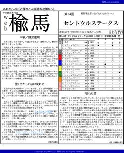 web楡馬 通巻340号 セントウルステークス号