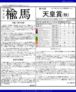 web楡馬 通巻344号 天皇賞(秋)号