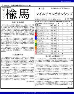 web楡馬 通巻346号 マイルチャンピオンシップ号