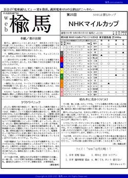 web楡馬 通巻356号 NHKマイルカップ号